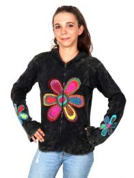 Girls Sweatshirts - Hippie Flower Sweatshirt [SUHC05] to buy wholesale or detail in the category of Alternative Hippie Clothing for Women.