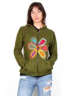 Sudaderas chicas - Sudadera con Flor Hippie [SUHC05] para comprar al por mayor o detalle  en la categoría de Ropa Hippie Alternativa para Mujer.