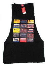 camiseta tirantes cassettes Mod Negro