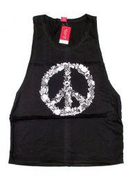 Camiseta de tirantes algodón Mod Negro