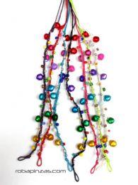 Tobillera de cascabeles hippie detalle del producto
