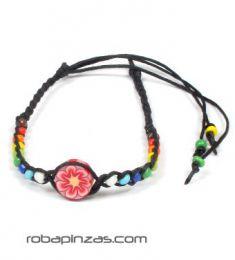 Tobilleras Hippies - Tobillera con motivo de fimo de colores [TOCU-E] para comprar al por mayor o detalle  en la categoría de Bisutería Hippie Étnica Alternativa.