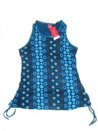 Top blusa de algodón Mod Azul 2