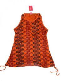 Top blusa de algodón Mod Naranja