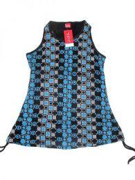 Top blusa de algodón Mod Azul