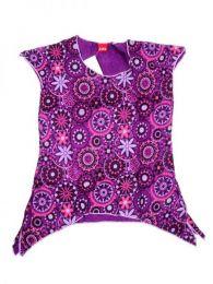 Top blusa de algodón Mod Morado