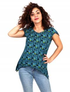 Top chemisier en rayonne imprimé mandalas, pour acheter en gros ou détail dans la catégorie Vêtements Hippie Femme | Magasin alternatif ZAS. [TOEV09]