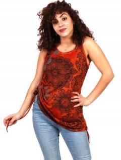 Top Mandala stampato camicetta in rayon TOEV10 da acquistare all'ingrosso o dettaglio nella categoria di abbigliamento hippie da donna | Negozio alternativo ZAS.
