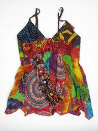 Top hippie patchwork con tirantes Mod 164