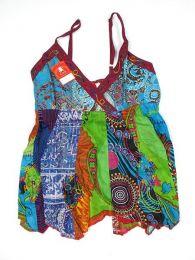 Top hippie patchwork con tirantes Mod 166