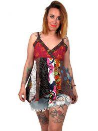 Top hippie patchwork con tirantes detalle del producto