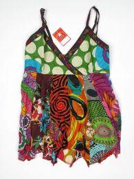 Top hippie patchwork con tirantes Mod 165