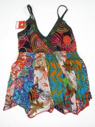Top hippie patchwork con tirantes Mod 161