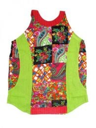 Top hippie patch estampado  Mod Verde