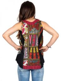 Top y Blusas Hippie Boho Ethnic - Top hippie patch estampado  TOHC20.