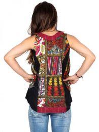 Top hippie patch estampado detalle del producto