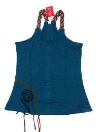 Topde algodón con tirante Mod Azul