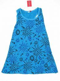 Top de algodón largo Mod Azul