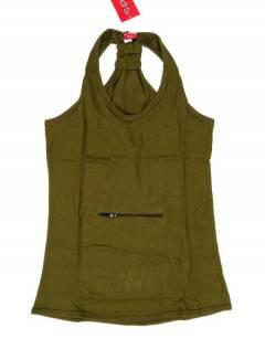 Camisetas, Blusas e Tops - Top hippie básico, TOHC34 - Modelo Verde