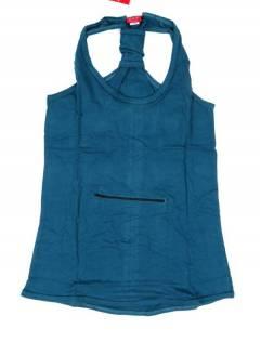 Camisetas, Blusas e Tops - Top hippie básico, TOHC34 - Modelo Azul