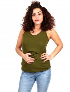 Hippie top with pocket [TOHC34]. Shirts Blouses and Tops to buy wholesale or detail in the category of Women's Hippie Clothing | ZAS Alternative Store.