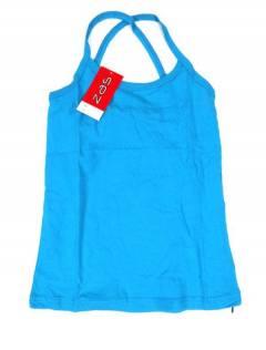 Camisetas Blusas y Tops - Top hippie básico, TOHC35 - Modelo Azul