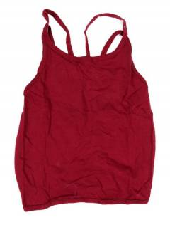 Camisetas Blusas y Tops - Top hippie básico, TOHC36 - Modelo Granate