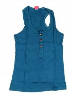 Camisetas Blusas y Tops - Top hippie básico, TOHC37 - Modelo Azul