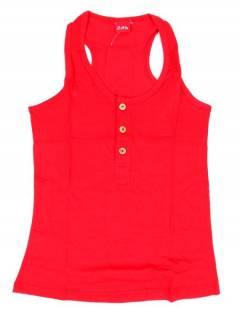 Camisetas Blusas y Tops - Top hippie básico, TOHC37 - Modelo Rojo