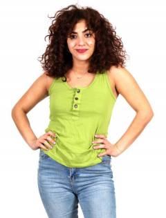 Top basique avec boutons en noix de coco pour acheter en gros ou en détail dans la catégorie Vêtements Hippie Femme | Magasin alternatif ZAS [TOHC37].
