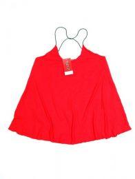 Top y Blusas Hippies Alternativas - top blusa amplia expandex TOJO07 - Modelo Rojo