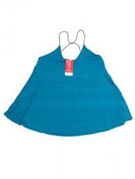 top blusa amplia expandex Mod Azul