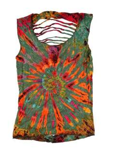 Ripped Back Tie Dye Top TOJU08 to buy wholesale or detail in Handicrafts category.
