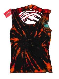 Top rasgado espalda Tie Dye TOJU08 para comprar al por mayor o detalle  en la categoría de Complementos Hippies Alternativos.