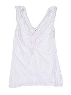 Camisetas y Tops Hippies - Top expandex poliester espalda TOJU12P - Modelo Blanco