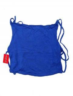 Camisetas y Tops Hippies - Mini Top hippie con espalda TOJU16P - Modelo Azul