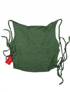 Camisetas y Tops Hippies - Mini Top hippie con espalda TOJU16P - Modelo Verde