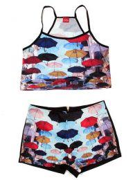 Conjunto de Top y Pantalón Mod Paraguas