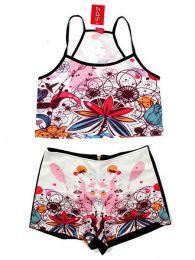 Conjunto de Top y Pantalón Mod Flores
