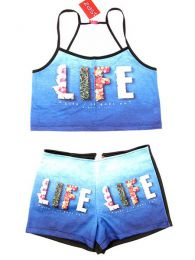 Outlet Ropa Hippie - Conjunto de Top y Pantalón TOPAPO-P - Modelo Life