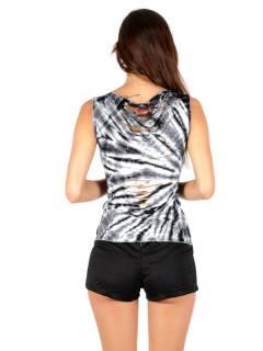 Top déchiré Tie Dye, pour acheter en gros ou en détail dans la catégorie Vêtements Hippie Femme | Magasin alternatif ZAS. [TOPN02]