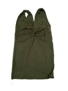 Camisetas Blusas y Tops - Top Liso espalda abierta tirante. TOPN03P - Modelo Verde