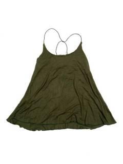 Camisetas Blusas y Tops - top blusa amplia recta expandex TOPN04P - Modelo Verde