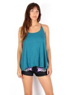 Top chemisier droit large à fines bretelles, pour acheter en gros ou détail dans la catégorie Vêtements Hippie Femme | Magasin alternatif ZAS. [TOPN04P]