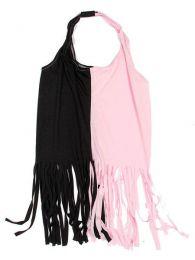 Top expandex poliester con Mod Negro rosa