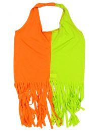 Outlet Ropa Hippie - Top expandex poliester con TORC02 - Modelo Naranja verde
