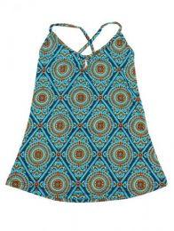Top hippie con estampado mandalas. Mod Azul