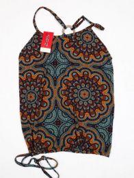 Top hippie con estampado mandalas Mod Gris