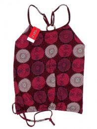 Top hippie con estampado mandalas Mod Rojo