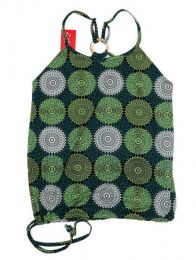 Top hippie con estampado mandalas Mod Verde